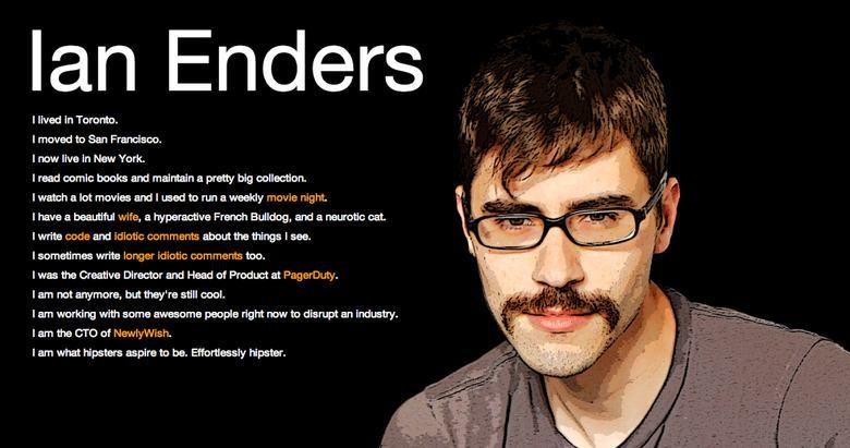بهترین وبسایت شخصی - Ian Enders