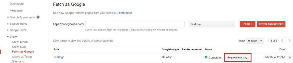 درخواست ایندکس سریع مطالب به گوگل - پرتقالی ها