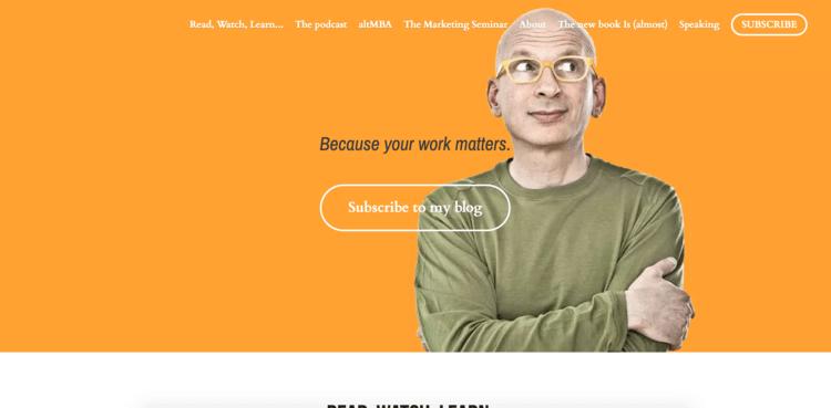 سایت شخصی Seth Godin