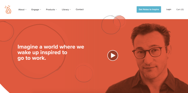 بهترین سایت های شخصی دنیا - Simon Sinek